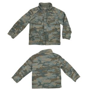 Cherokee Camouflage Zip Up Army Utility Jacket 5-6